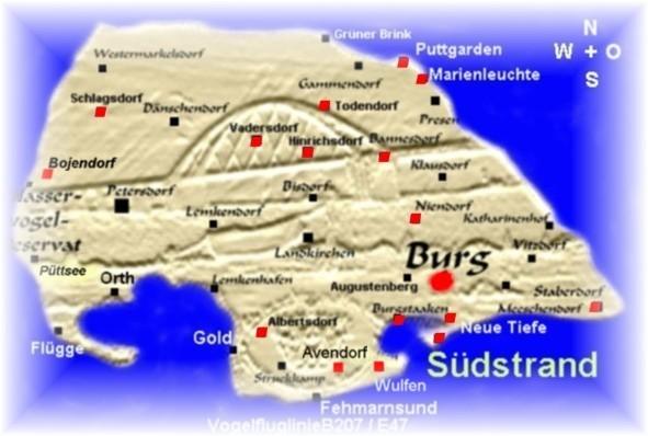 Ferienwohnung Fehmarn Ferienwohnungen Karte